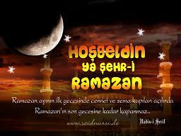 Ramazan ay�m�z m�barek olsun
